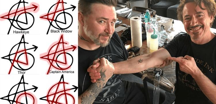 《复仇者联盟》标志纹身是什么组成的?