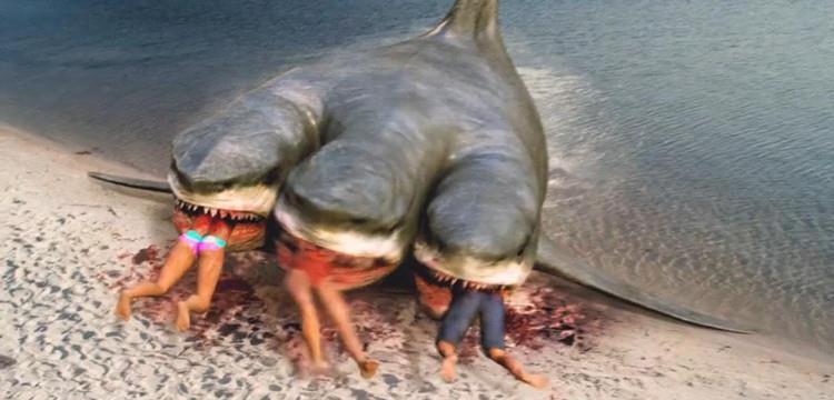 四个头的鲨鱼是什么电影?